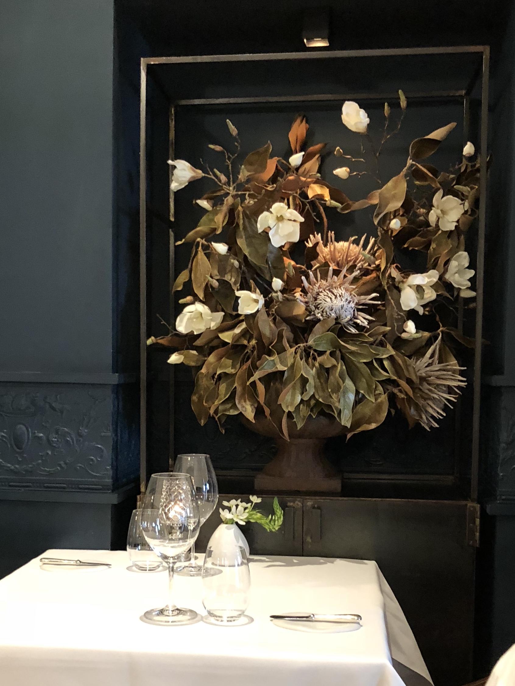 La salle du restaurant Jan à Nice