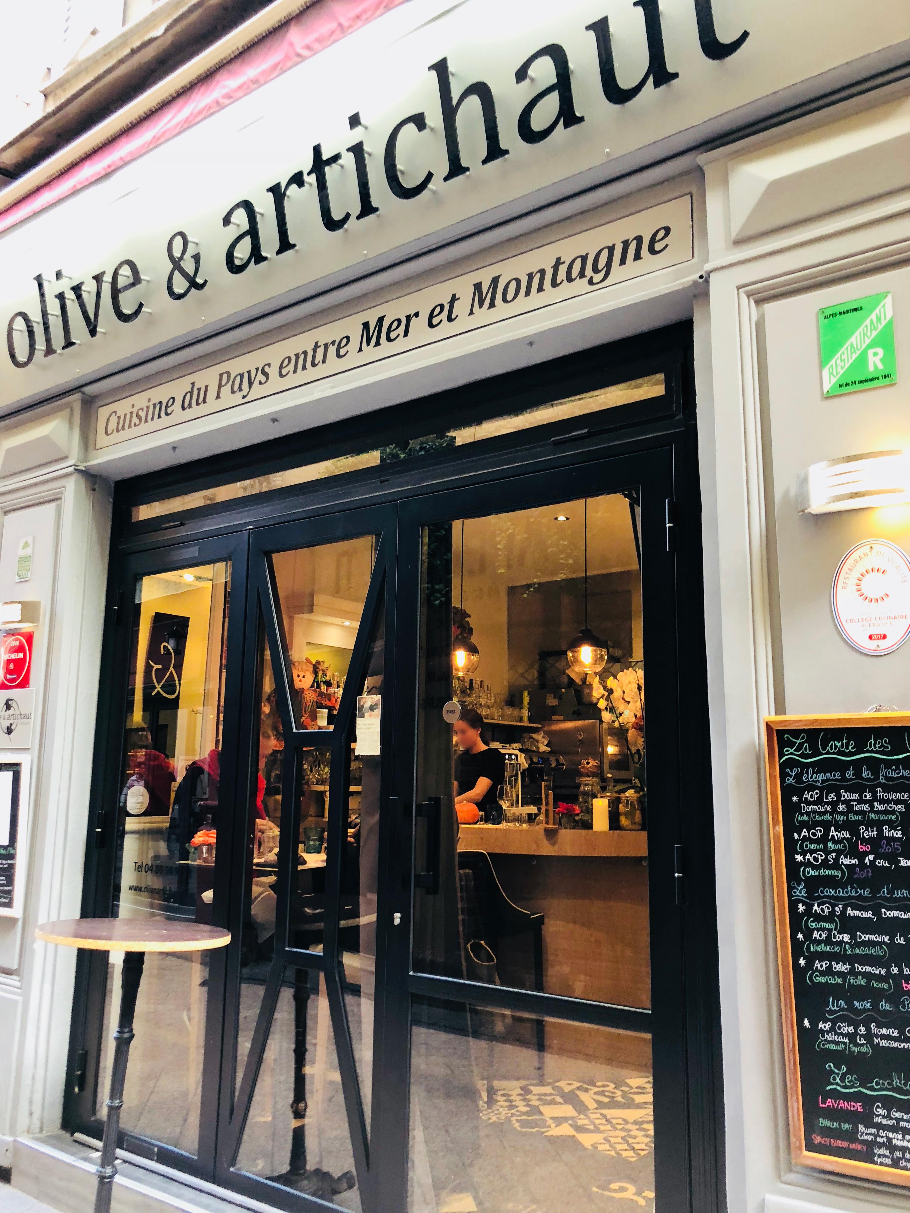Restaurant Nice Olive et Artichaut